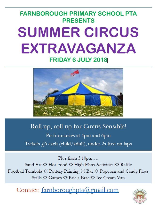 Summer Circus Extravaganza – 6th July 2018